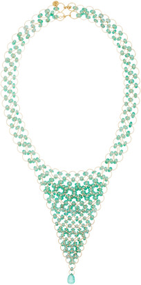 Mallary Marks Kaleidoscope 18K Gold Emerald Necklace