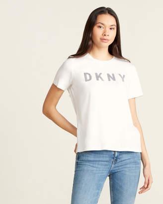 DKNY Striped Logo Tee