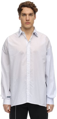 Ader Error Double Collar Cotton Poplin Shirt