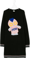 Fendi teen intarsia-knit dress