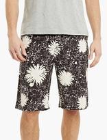 Junya Watanabe Black Flower-print Bermuda Shorts