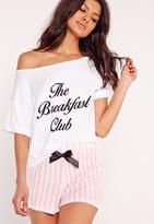 Missguided The Breakfast Club Pyjama Set Pink