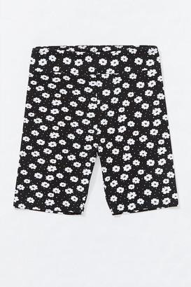 Forever 21 Daisy Print Biker Shorts