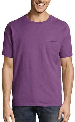 Hanes Men's ComfortWash Garment-Dyed Short Sleeve Tee with Pocket