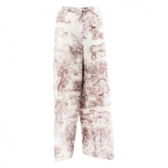 Christian Dior Beige Cotton Trousers