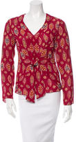 Cacharel Printed Silk Top