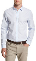 Michael Kors Dobby-Print Slim-Fit Sport Shirt, Steel Blue