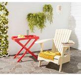 Safavieh Outdoor Living Mopani Adirondack Beige Acacia Wood Chair