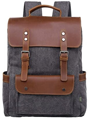 TSD BRAND Valley Hill Canvas Backpack (Olive) Backpack Bags