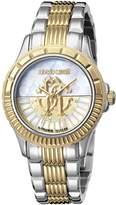 Roberto Cavalli LOGO DIAL Women's Swiss-Quartz Two Tone Stainless Steel Bracelet Watch