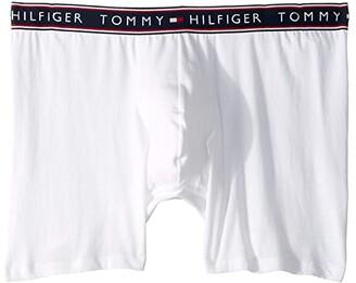 Tommy Hilfiger Cotton Stretch Boxer Brief (White) Men's Underwear