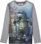 Molo Remy godzilla cotton t-shirt 4-14 years