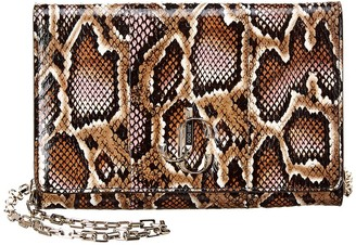 Jimmy Choo Varenne Snake-Embossed Leather Clutch