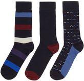 Linea 3 Pack Chevron Stripe Socks