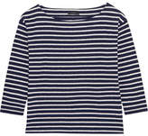 J.Crew Striped Slub Cotton-blend Jersey Top - Navy