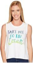 Life is Good Take Me Ocean Muscle Tee Women's Sleeveless