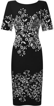 Adrianna Papell Blooming Trellis Sheath Dress