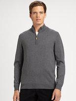 Saks Fifth Avenue Black Label Quarter-Zip Mockneck Sweater