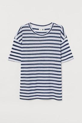 H&M Linen-blend T-shirt