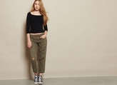 Garage Vintage Army Green Boyfriend Jean