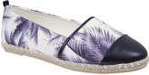 Yours Clothing Black And White Palm Tree Print Espadrille Pumps