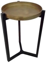 Threshold Dark Wood and Metal Accent Table