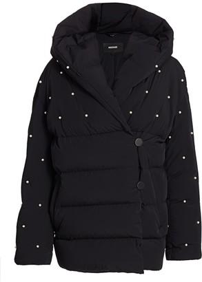 Mackage Aura Faux Pearl Embellished Puffer Jacket