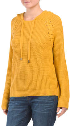 Detail Toggle Drawcord Hooded Pullover