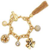GUESS Gold-Tone Exotic Charm Bracelet