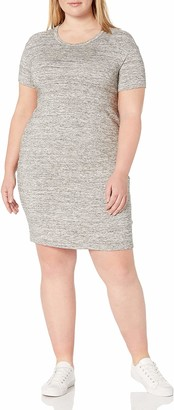 Daily Ritual Amazon Brand Women's Plus Size Supersoft Terry Short-Sleeve Open Crew Neck Dress 7X