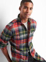 Flannel plaid standard fit shirt