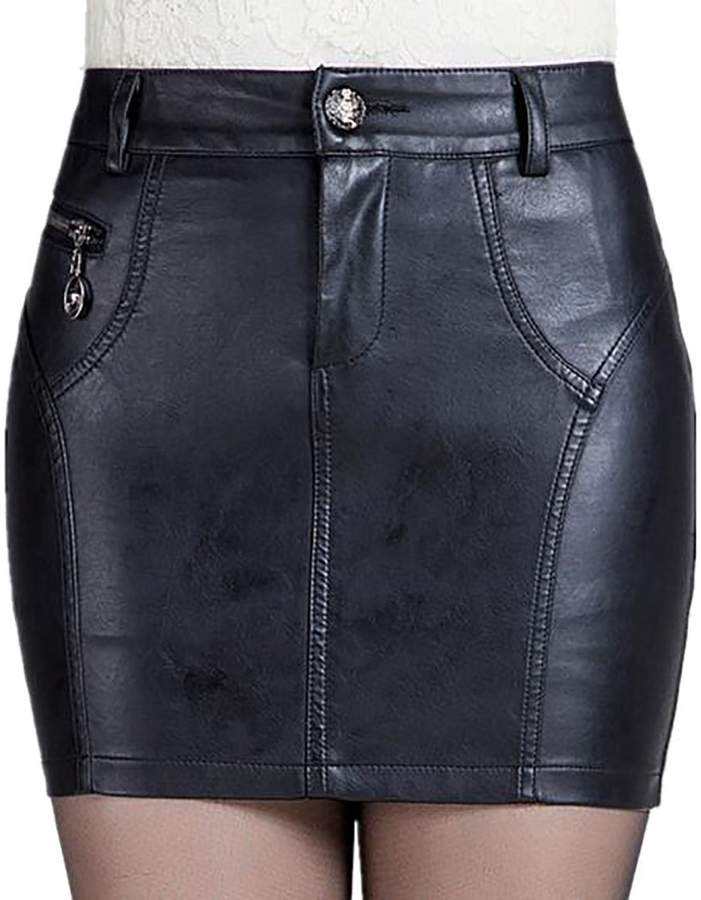 c09ff9a503 Black Leather Bodycon Skirt - ShopStyle Canada