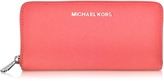 Michael Kors Jet Set Travel Coral Saffiano Leather Continental Wallet
