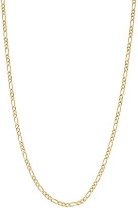 Primavera 24k Gold Over Silver Figaro Chain Necklace