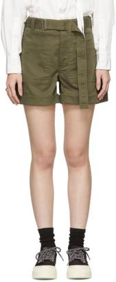 Proenza Schouler Khaki Slouchy Shorts