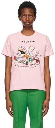 Gucci Pink Disney Edition Garden Donald Duck T-Shirt