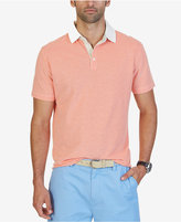 Nautica Men's Contrast-Trim Striped Polo