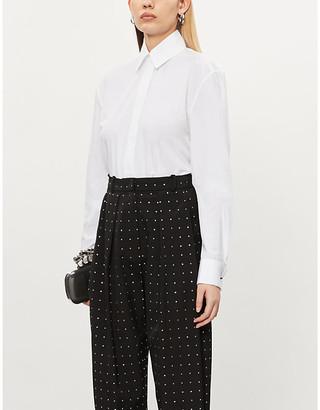 Alexandre Vauthier Oversized cotton-poplin shirt