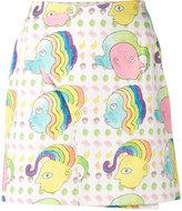 Olympia Le-Tan mini blotter print skirt