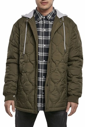 Urban Classics Men's Quilted Hooded Jacket Women