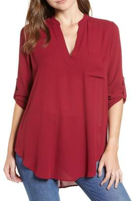 ALL IN FAVOR Perfect Roll Tab Sleeve Tunic