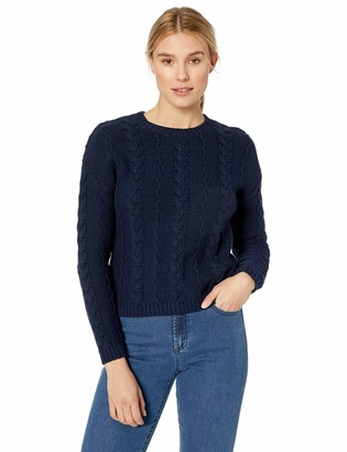 Velvet by Graham & Spencer Women's Arely Cotton Cable Sweater