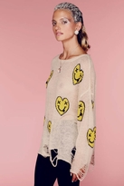 Wildfox Couture Heart Face Lennon Sweater in Naked