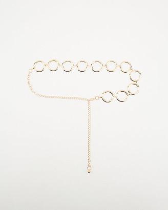 Le Château Metal Loop Chain Belt