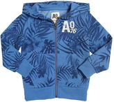American Outfitters Leafs Print Hooded Cotton Sweatshirt