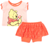 Children's Apparel Network Orange Winnie the Pooh Tee & Skirted Shorts - Infant
