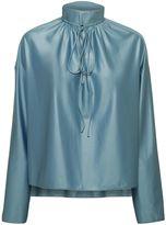 Balenciaga Satin Drawstring Blouse