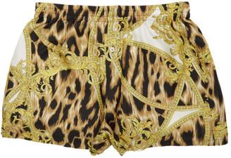 Versace Underwear White and Yellow Pyjama Shorts