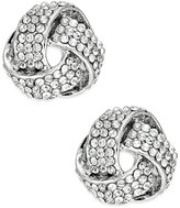 INC International Concepts Silver-Tone Pavé Crystal Knot Stud Earrings, Only at Macy's
