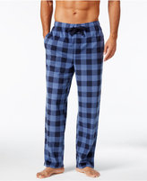 Perry Ellis Men's Buffalo Plaid Fleece Pajama Pants